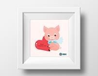 150: Poster - Valentine's Piglet