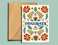 Congrats Greeting Card Design