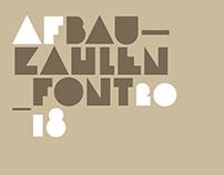 Bauzahlen Font