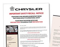 Chrysler Customer Recall Program