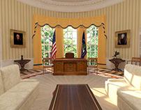US Oval Office / 3D Scenery