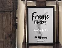 Poster Frame in Wood Scene Free Mockup