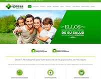 Sitio web de Ipresa Seguros de Salud, de España.