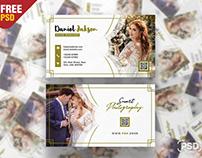 Wedding Photography Business Card PSD