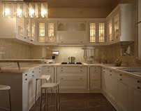 "3D visualization | Kitchen ""Sosnovo"""