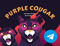 Animated stickers Cougar