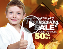 Animated Martial Arts Facebook Ads With Audio