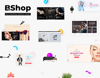 Beauty Shop - Landing page & Promo for marketplace