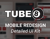 [UI/UX] UI Kit for Tube8 Mobile Redesign (2014)