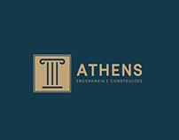 Logotipo - Athens Engenharia e Construções