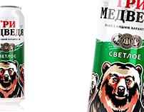 Tri Medvedya Beer (can)