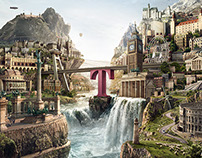 CGI/Matte Painting Job for Telekom