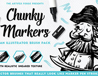 Chunky Markers - Illustrator Brushes