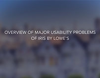Overview of Major Usability Problems of Iris by Lowe's