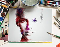 Color Pencil Portrait Effect