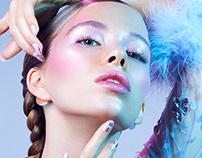 Illuminating beauty editorial