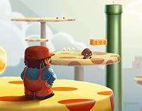 Super Mario Game Fan art
