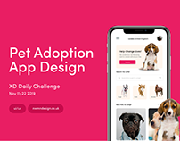 Adobe XD Daily Creative Challenge Pet Adoption App