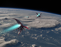 Red Fish spaceship design