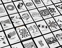 2016年活版印刷日曆設計