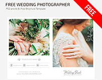FREE WEDDING PHOTOGRAPHER BI-FOLD BROCHURE TEMPLATE