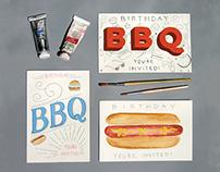 Birthday BBQ Invites