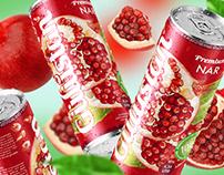 """Packaging design for pomegranate nectar """"Gulustan"""""""