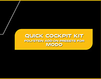 Quick Cockpit Kit Vol 1 - Polystein Add-on for MODO