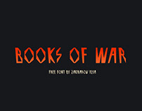 BOOKS OF WAR FREE FONT