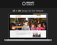 Mosaic Syria Donations Website UI/UX