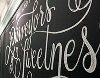 Lolli and Pops Chalk Wall: Mission Viejo, CA