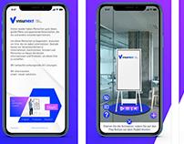 visunext Augmented Reality app, simulation of displays
