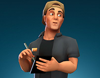 Stylized 3D Character: Barista
