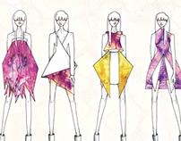 Textiles Hand Dyed Print Development