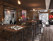 Heavy Metal Bar Visualisation. 3Ds Max & Vray