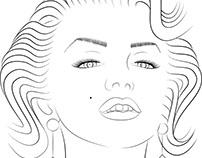 Marilyn Monroe tegning