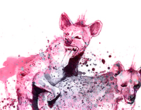 Hyenas....