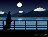 Dreamy Night | landscape | illustration