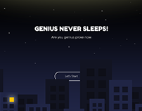 genius never sleeps!