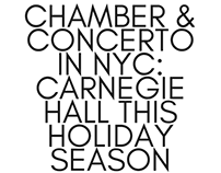 NYC: Carnegie Hall This Holiday Season