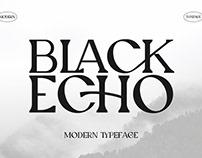 Black Echo Modern Ligature Font