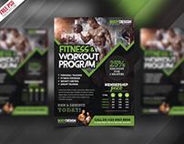 Free PSD : Gym Fitness Workout Program Flyer PSD