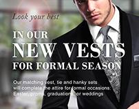 Men's Formal Wear Ads. (Part 1)