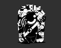 Happy in Black & White