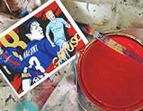 Neymar Jr x Maldini x De Bruyne - Football Mural