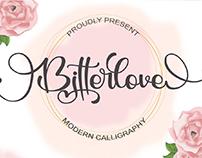 FREE   Bitterlove - Modern Calligraphy Font