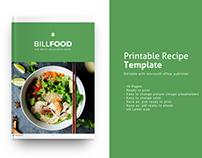 Recipe Book - Microsoft Publisher Template