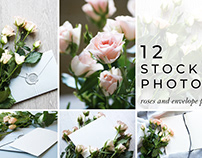 Roses and envelope Stock Photo Pack
