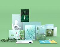 二十四节气日历,明信片,装饰画,画册——Ju(julin插画师)文创产品设计