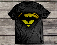 T Shirt Designs - Batman vs Superman